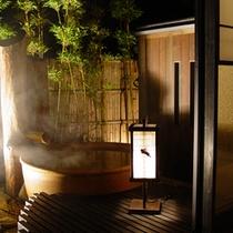 ■離れ特別室-蜜虫-■[露天風呂・夜]