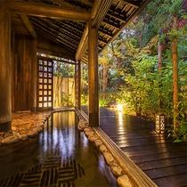【庭園大浴場】開放的な空間、湯のぬくもり。