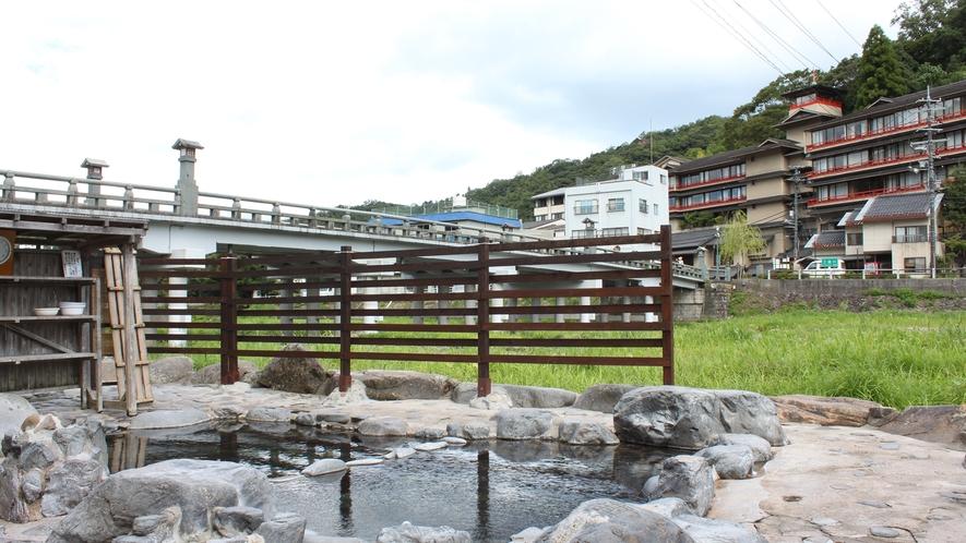 河原風呂~万翆楼の正面~