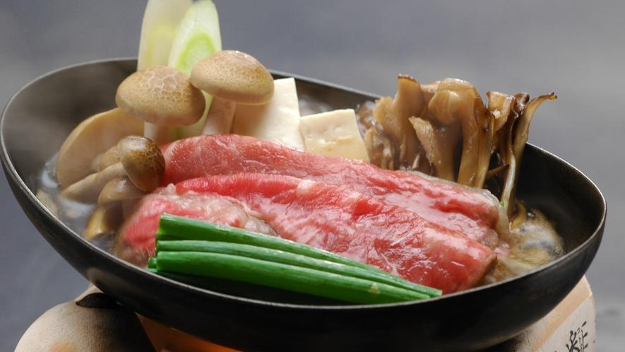 鳥取牛のすき焼き