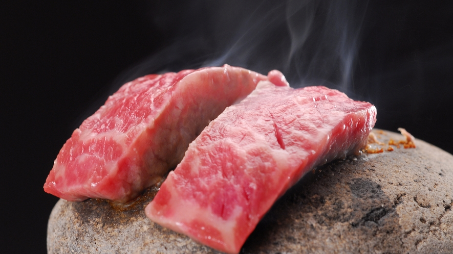 鳥取牛の石焼き