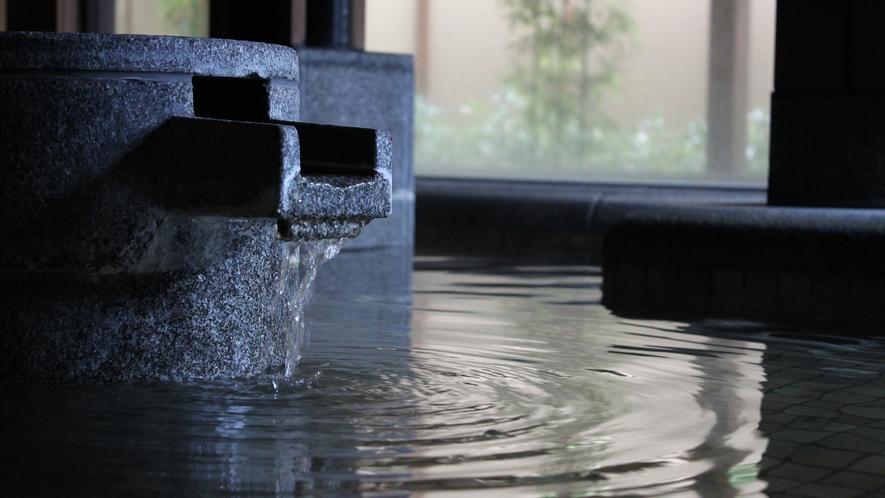 自家源泉3本の「かけ流し」の湯