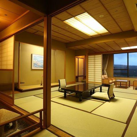 【新客殿/特別室】草津の高台からの眺めを望める11〜14階の特別室※一例
