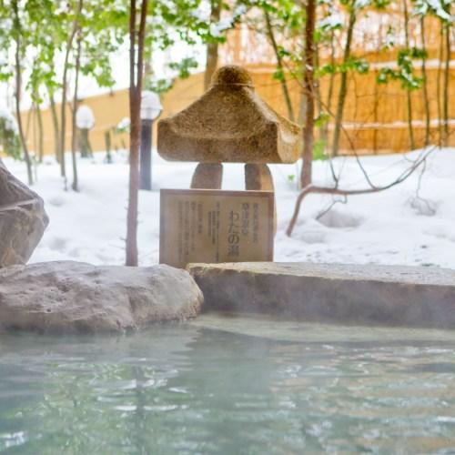 【温泉】露天風呂の源泉「わたの湯」