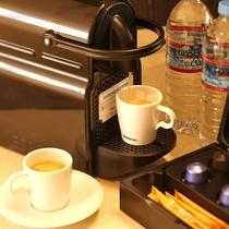 【本客殿ハリウッドツイン】ネスプレッソマシンで本格コーヒーをお楽しみいただけます。※イメージ