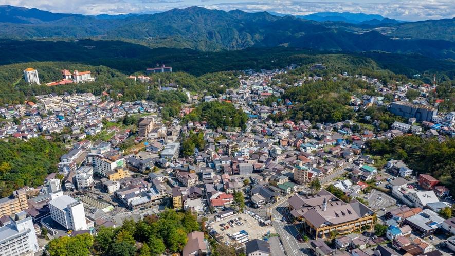 草津町内の眺望
