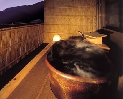 ●温泉の出る露天風呂付客室(和室12畳)Wi-Fi完備・禁煙