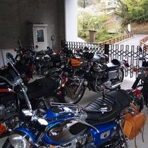 山水荘は、バイクに優しい宿を目指しております♪ 屋根付きの駐車場にあわせ、セキュリティ面でも安心です