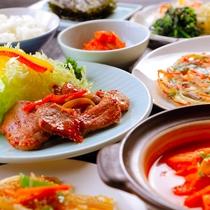 ◆韓国料理夕食メニューの一例◆ビールもごはんも進んじゃう♪人気の韓国料理を定食スタイルで◎