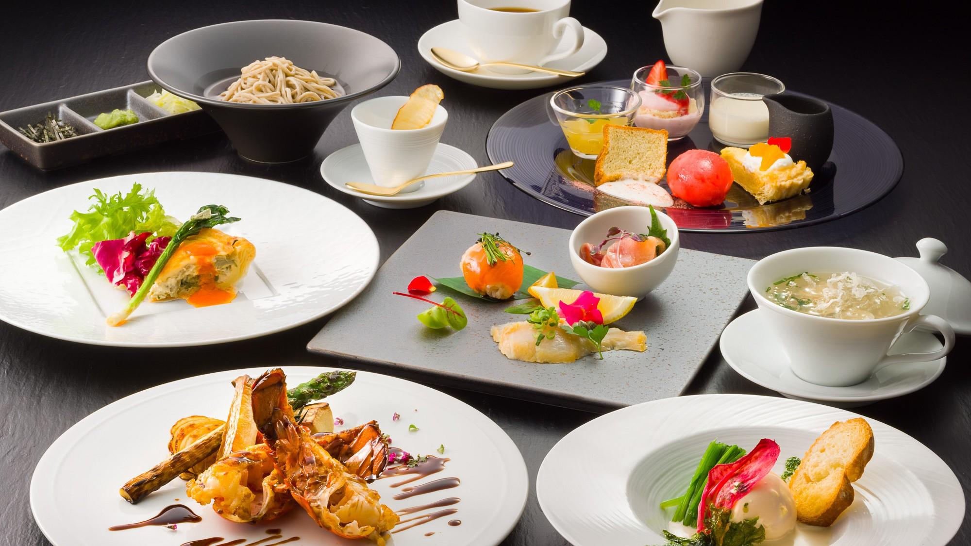 魚介と野菜の創作信州フレンチコース 一例