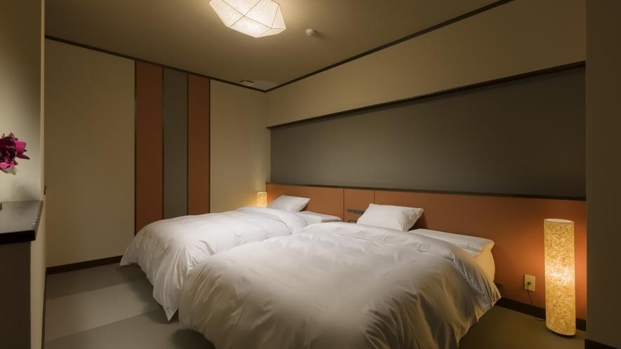 303【TSUMUGI~紡~】最適な寝姿勢を大切にしたこだわりの寝具を採用しています
