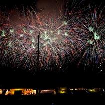 【諏訪湖祭湖上花火大会の様子】