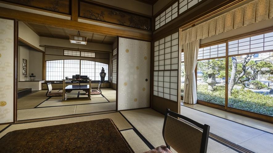 国指定重要文化財「菊の間」 当時のままの雰囲気で。
