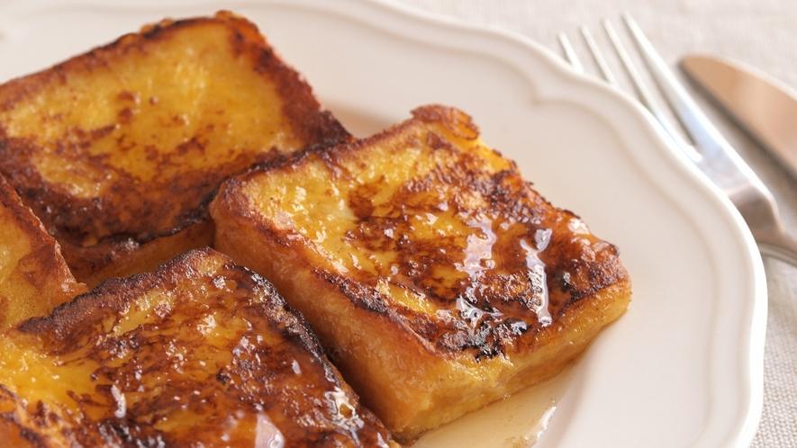 朝食一例 特製フレンチトースト
