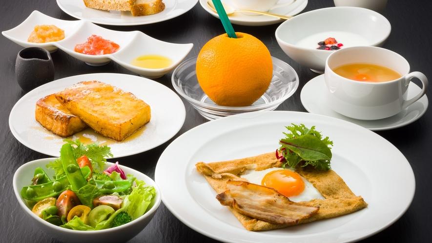 朝食一例 創作信州フレンチのご朝食