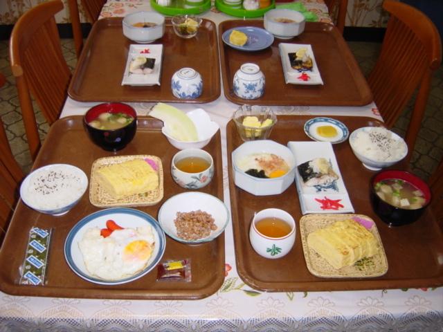 朝食メニューの一例。朝6:30〜8:30一階食堂にて!*工事等ビジネス滞在夕食対応可!