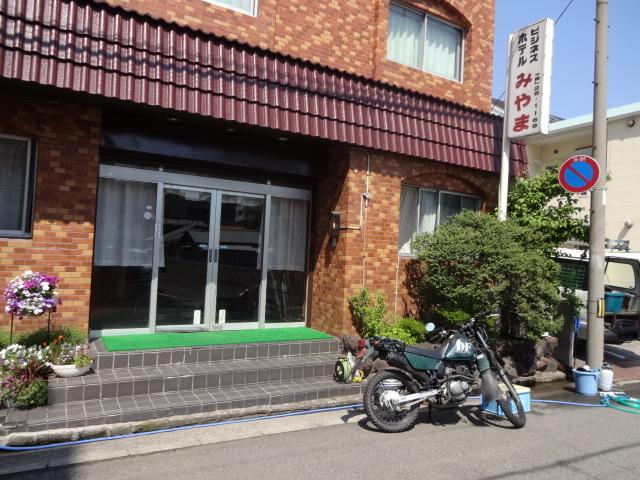 ホテル正面*和歌山一番の繁華街に立地ライダーのお客様はホテル館内の駐車場へどうぞ。駐車場完備!