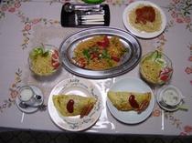 洋食パスタとオムライス*工事等ビジネス滞在夕食対応可!