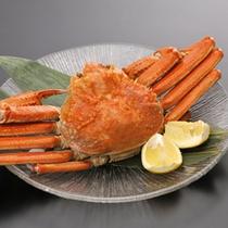 *日本海にも意外と近い白馬。追加でご注文いただける「ずわい蟹」(要予約)