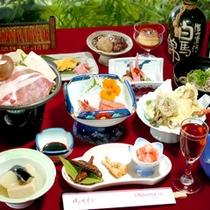 *ご夕食(料理一例)/地もの食材を使用した信州郷土料理の会席をどうぞ。