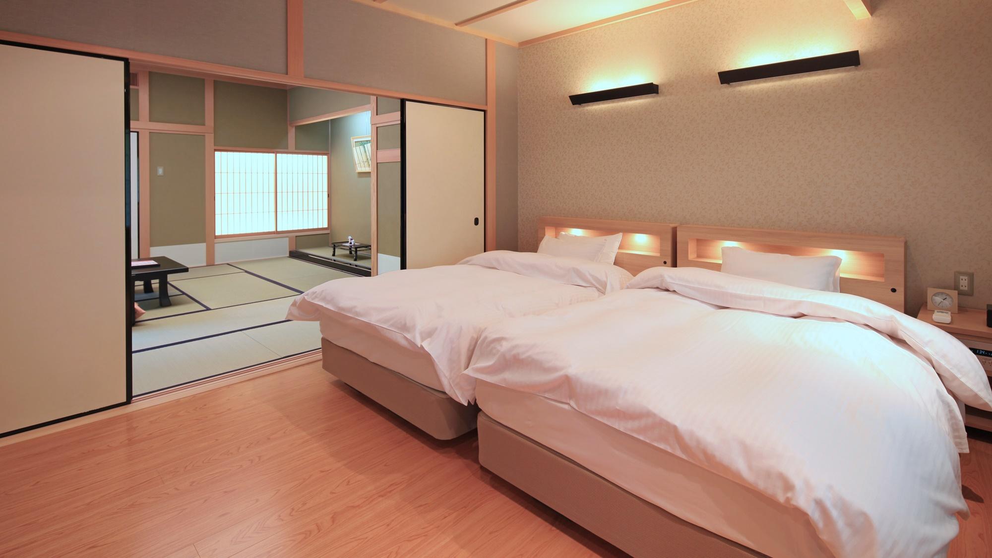 【禁煙/特別室】和洋室 ベッドルーム