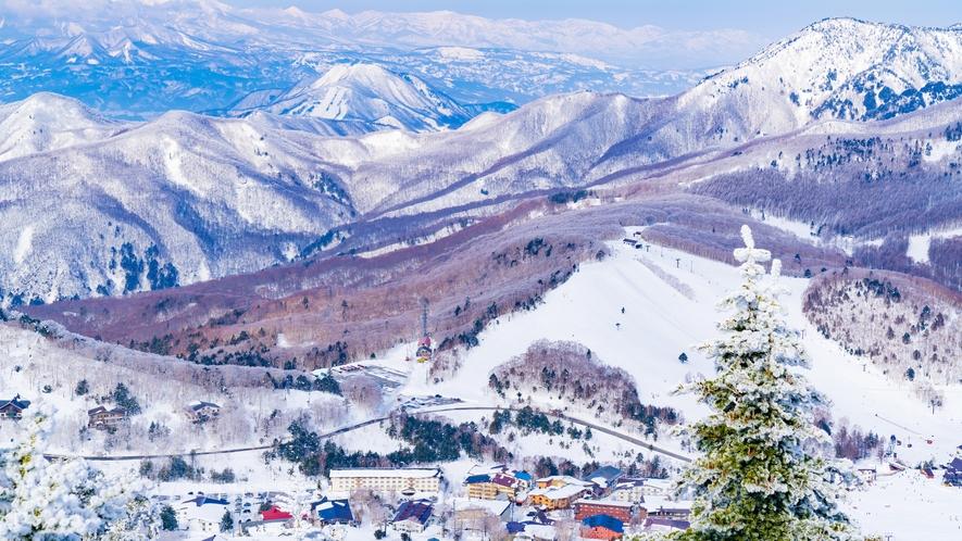 冬の志賀高原 スキー場も近くにございます