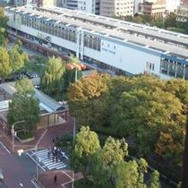 お部屋から眺める鳥取駅