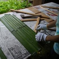 竹の伐採・割り