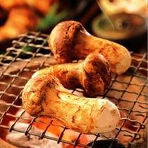 松茸の七輪焼き