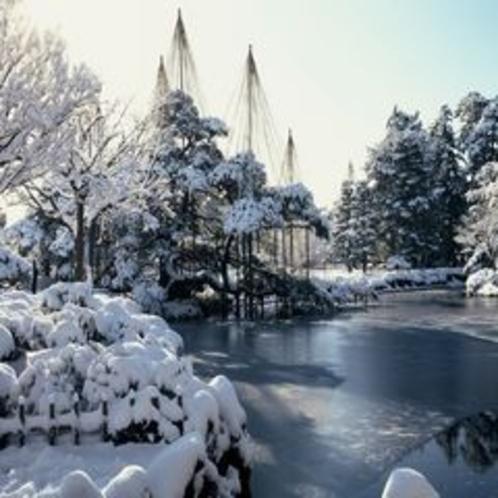 雪吊りの 兼六園