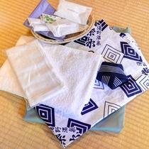 *客室アメニティ/浴衣、タオル、等取り揃えています。