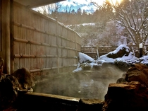 冬の貸切露天風呂『満天星の湯』(撮影日12月18日)