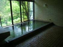 【女性用大浴場】美しい緑に包まれながら、ゆっくりと当館自慢の美肌の湯をお楽しみください