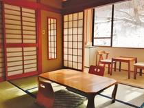 西館6畳バストイレ客室【冬の景色】