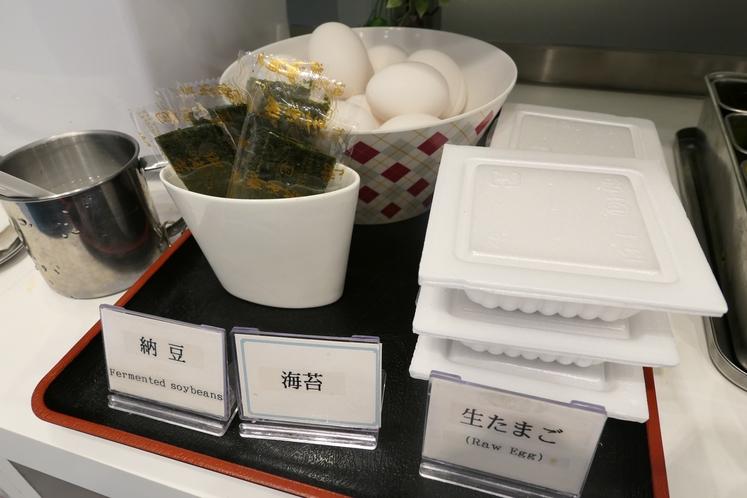 朝ごはんの定番、納豆