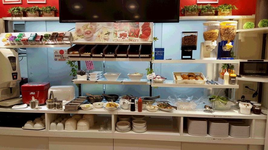 和食から洋食、飲み物も豊富!ホテル自慢の朝食食べ放題をご堪能下さい♪