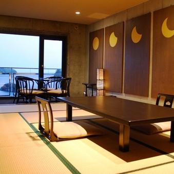 下田湾一望・デザインアートな和室12畳 部屋食