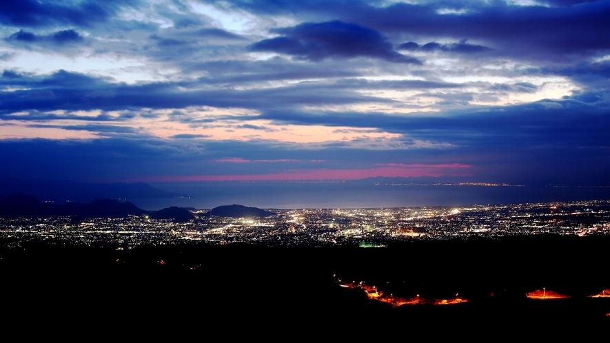■駿河湾の夕景