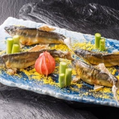 鮎の塩焼き 料理例