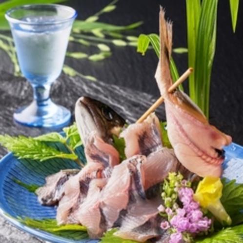 岩魚姿づくり 料理例