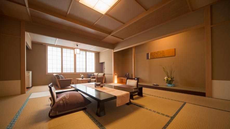 上質な寛ぎ空間 特別和室【木曽檜風呂付き 12.5畳+広縁】