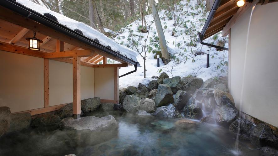 貸切露天風呂-04雪