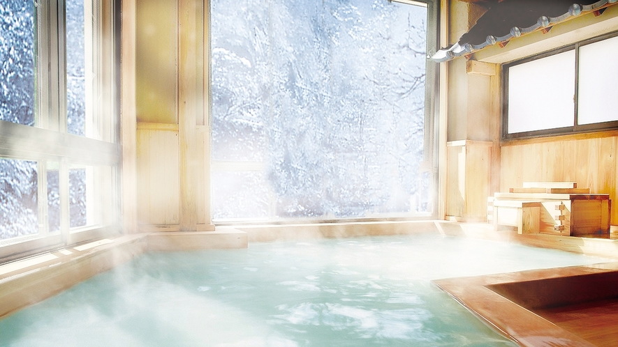 大檜風呂-05雪