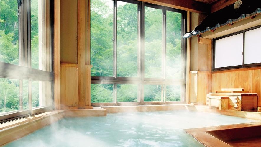 大檜風呂-01緑