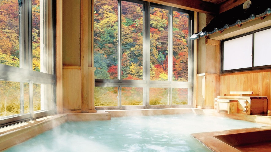 大檜風呂-03紅葉