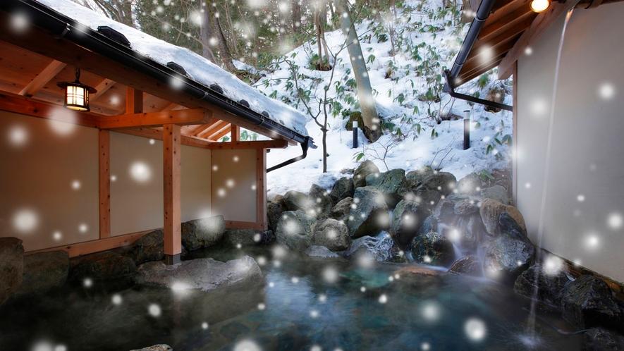 貸切露天風呂-05雪