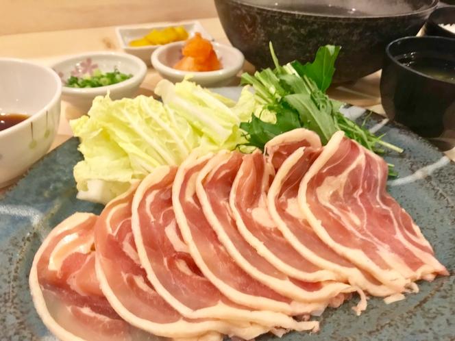 ◆夕食・九州産「みつせ鶏」のしゃぶしゃぶ膳◆