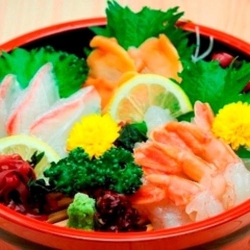 ■夕食レストラン花々亭にて・・・■お刺身の3種盛り お酒のお供にどうぞ♪
