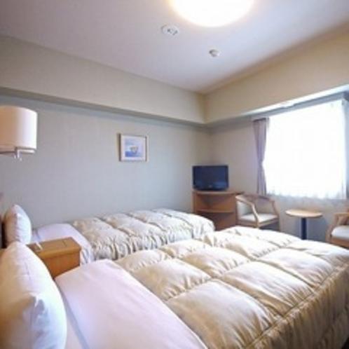 【ツインルーム】110cm幅のベッドでごゆっくりお休みください!
