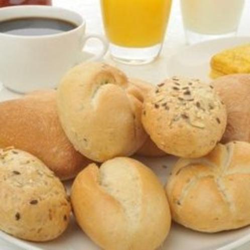 □朝食レストラン花茶屋にて・・・□ヨーロピアンブレッド コーヒーと一緒にどうぞ